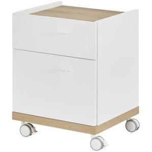 Nachtkommode | weiß | 50 cm | 50 cm | 40 cm | Möbel Kraft