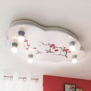 Elobra Kinderlampe, Weiß, Holz