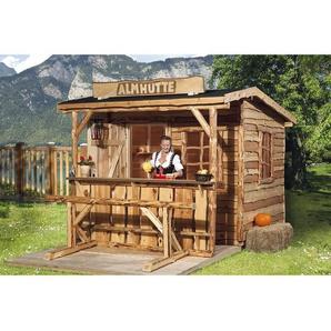 Weka Holz-Gartenhaus Nature 3 Größe 1 240 cm x 280 cm mit Sitzgel. und Tresen