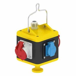 BALS CEE-Kombi, Gummi, schwarz, IP44, 2x16A5p400V, 2xSteckdose, ohne Absicherung, M25, ohne FI-Schutzschalter