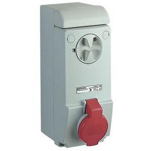 SCHNEIDER ELECTRIC Wandsteckdose verriegelt, 16A, 3p+E, 380-415 V AC, IP44