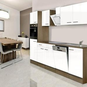Respekta Küchenzeile mit E-Geräten »York«, Breite 280 cm