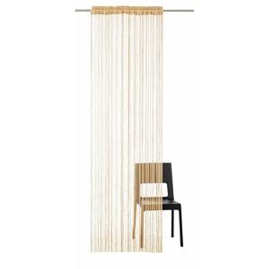 My Home Fadenvorhang »Fao-Uni«, H/B 145/95 cm, braun, transparenter Stoff