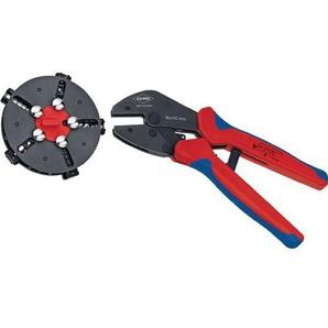 KNIPEX MultiCrimp® Crimpzange mit Wechselmagazin und 5 Crimpeinsätzen 250 mm