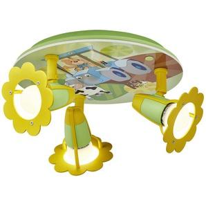 Deckenleuchte Traktor mit Teddy ¦ grün ¦ Maße (cm): B: 30 T: 20