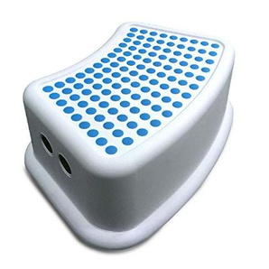 Addis Kinder Badezimmer Booster Schritt Hocker, weiß/blau, 24x 36,5x 13cm
