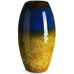 Vase, Keramik, D:13,5cm x H:24cm, senfgelb
