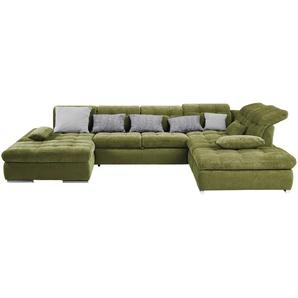 Wohnlandschaft grün - Webstoff La Palma ¦ grün ¦ Maße (cm): H: 81 Polstermöbel  Sofas  Schlafsofas » Höffner