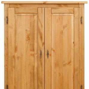 Home affaire Wäscheschrank »Teo«, 2trg mit 1 Schublade und 2 Einlegeböden, Breite 95 cm, natur/geölt