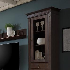 Vitrine CORDOBA  Farbe Braun Kiefer Massivholz Breite 64 cm