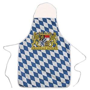 Schürze Freistaat Bayern Wappen mit Raute, 60 x 80 cm, 100 % Baumwolle