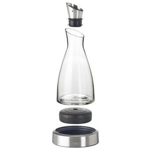 EMSA 1,0 l Karaffe mit Kühlstation FLOW Glas/Edelstahl