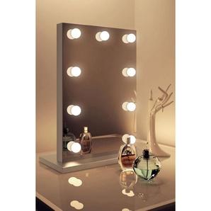 Diamond X Silver Edge Audio Hollywood Make-up Spiegel mit WW LED k82MWWaud - DIAMOND X COLLECTION