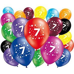FABSUD 20Stück Luftballons Geburtstag 7Jahre