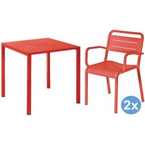 Emu Urban Square Gartenset 80x80 Tisch + 2 Stühle (Armchair)