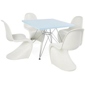Eiffel Kinder Tisch - 4 Panton Stühle