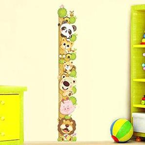 ufengke® Cute Cartoon-Katze Löwe Panda Messlatten Wandsticker (0Cm-180Cm), Kinderzimmer Babyzimmer Entfernbare Wandtattoos Wandbilder
