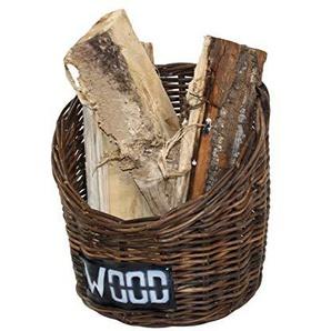 Feuerholzkorb Modern aus handgeflochtenem Rattan in verschieden Farben Crocco Brown (32)
