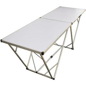 Mehrzwecktisch 200x60 cm weiß, Partytisch, Flohmarkttisch, Klapptisch - BEACH & POOL