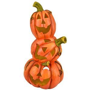 Dadeldo Living & Lifestyle Kürbis 3er Deko Objekt Herbst Halloween Clayfibre 68x34x30cm Orange Grusel