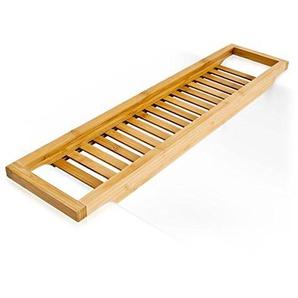 Bambus Badewannenablage 64 x 15 cm Badewannenbrücke Badewannenaufsatz Wannenablage Bambus Holz Badewannen Ablage