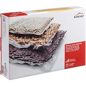Lacor 69154 Zip Plastikbeutel 24 x 23 cm, 20 Einheiten