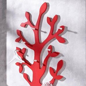 Wandgarderobe »Baum« mit 7 Haken, in vielen verschiedenen Farben, rot