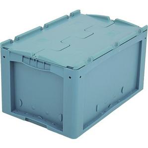 BITO-Lagertechnik Kleinladungsträger KLTD mit Deckel / KLTD64320D 600x400x320 türkis Deckel Doppel