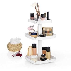 VITALmaxx 00505 Kosmetik-Karussell | Kosmetik-Organiser | 360° Drehbar, Weiß