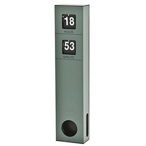 Standuhr Uhr BEN H 48 cm Tischuhr Batterie Kaminuhr Wanduhr Metall Flipuhr (grün)