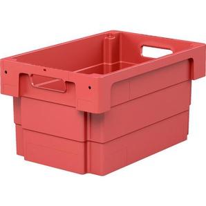 BITO-Lagertechnik Drehstapelbehälter DSB / DSB64321 600x400x320 rot Durchfassgriff