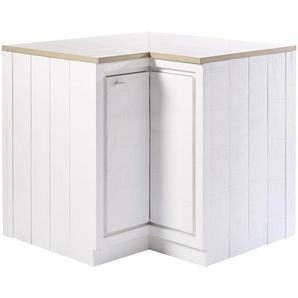 Küchenunterschrank Ecke mit 1 Tür, weiß Embrun