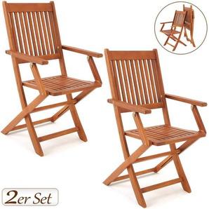 2er Set Gartenstuhl Klappstuhl Sydney aus Akazie - FSC® zertifiziert - DEUBA