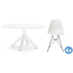 Gispen Dukdalf Tisch 120 Weiß (h) 75 X (Ø) 120 Cm