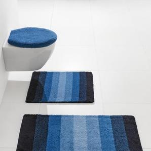 Badezimmer-Garnitur, blau, Gr. 70/120 cm, Kleine Wolke, Material: Polyacryl