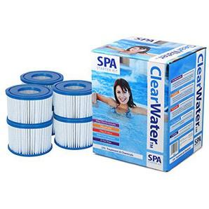 LAY Z Spa silber Spa Starter Kit–Chemische Starter-Pack mit LAY Z Spa Filter Gr. VI