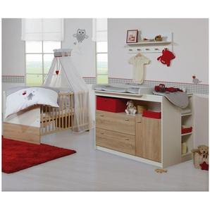 JUSTyou Lars Kinderzimmer-Set Kinderzimmermöbel Komplett mit Funktionsbett Jugendbett Kinderbett Einzelbett  Weiß