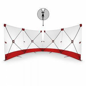 Trotec VarioScreen-Sichtschutzwand 4*180*180 mittig teilbar Rot
