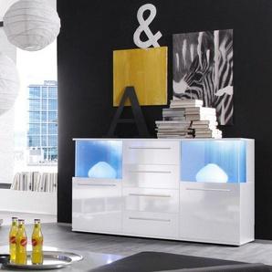 trendteam Sideboard, Breite 144 cm, weiß