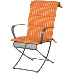 Sesselauflage Beverly von MBM, orange/uniorange, Wendemöglichkeit 100% Polyacryl
