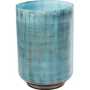 Vase Jute Hellblau 20cm