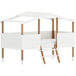Hüttenkinderbett mit Lattenrost, weiß, 90x190 cm PILOTI