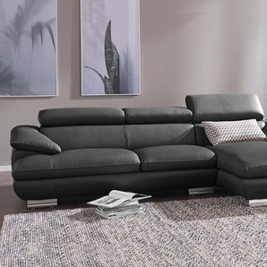 Calia Italia Eck-Sofa »Magic«, schwarz, FSC®-zertifiziert