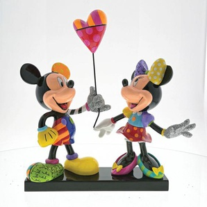 DISNEY by Romero BRITTO Deko Figur MICKEY & MINNIE 22 x 24 cm