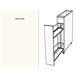 Premium-Ambiente ASTUVWE068 Unterschrank Apothekerschrank Vollauszug Softclosing FE (Breite 30cm, 68 Basisweiss)
