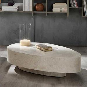 Steintisch für Wohnzimmer Creme