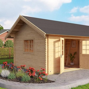 Set: Gartenhaus »Colorado«, BxT: 595x410 cm, inkl. Fußboden und Dachschindeln