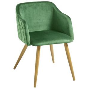 heine home Stuhl 2er-Set, grün, ca. 76,5/54,5/63 cm
