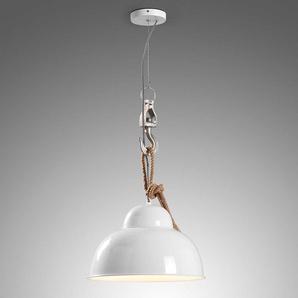 Design Hängelampe 150 cm hoch Weiß aus Eisen und Aluminium