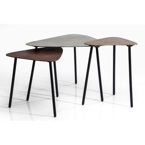 KARE DESIGN Couchtisch-Set LOFT TRIANGLE Aluminium/Eisen  ca. 62 x 50 x 57 cm